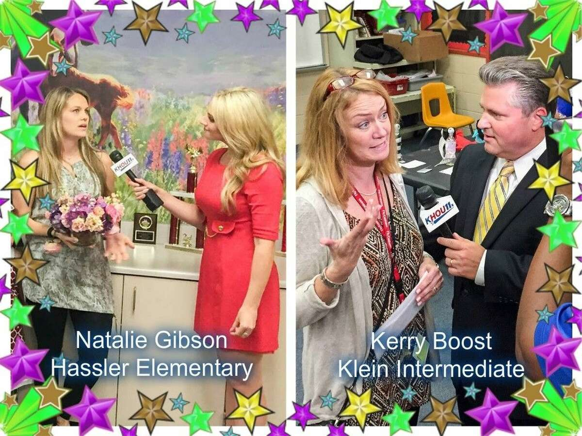 Klein ISD teachers Natalie Gibson of Hassler Elementary and Kerry Boost of Klein Intermediate were recently named recipients of the Elizabeth Brand Teacher Excellence Award by the Houston Association of Professional Landmen.