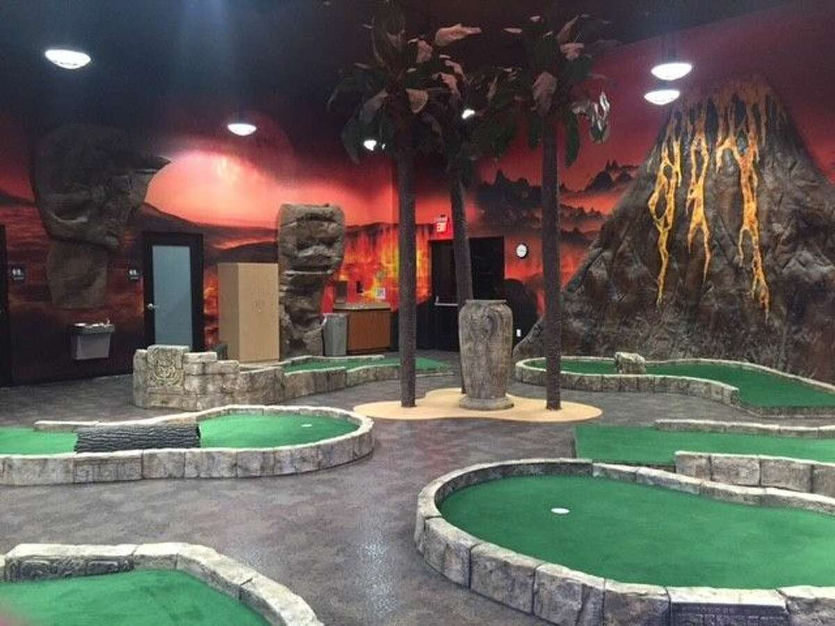 Any kind of fun a child could want is provided at the Studio. Options include a bowling alley, dance studio and this miniature golf course.