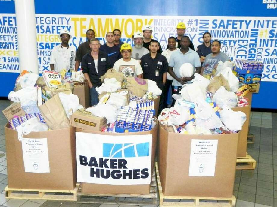Montgomery County Emergency Assistance is grateful that Baker Hughes collected more than 3,000 pounds of food during the critical needed summer months. Photo: Submitted