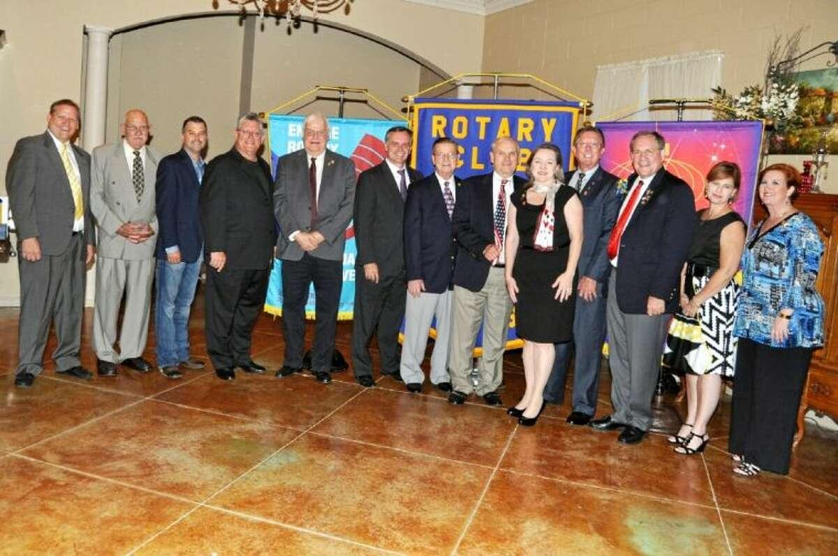 The Officers and Board of Directors for Pasadena Rotary's 78th year are from left Gary Nickelson, Garland DeLoach, Brad French John Moon Jr., Herman Weber, Ken Haesly, Lee Clark, Niki Whiteside, Mark Fifield, Bob Gebhard, Ginger Lambert and Dana Philibert.