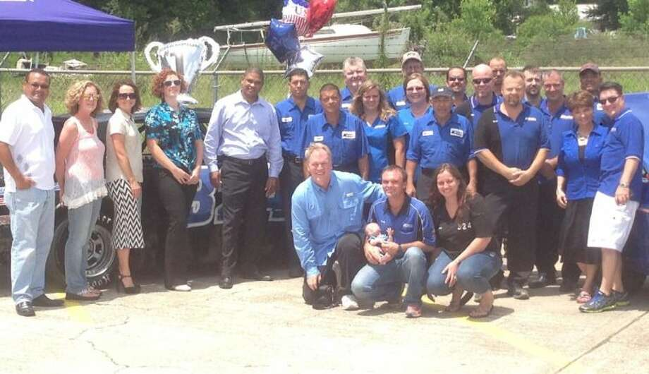 Kenneth's Car Care in Kingwood, a business that has been a fixture of the community for 28 years, recently hosted a send-off party for local street stock car racer Craig Allen.