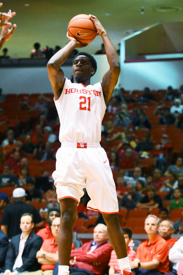 Senior guard Damyean Dotson was selected to the American Athletic Conference preseason men's basketball team by coaches on Monday. Photo: Tony Gaines