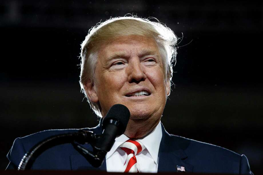 Republican presidential candidate Donald Trump speaks during a campaign rally, Tuesday, Oct. 4, 2016, in Prescott Valley, Ariz. (AP Photo/ Evan Vucci) Photo: Evan Vucci, STF / Copyright 2016 The Associated Press. All rights reserved.