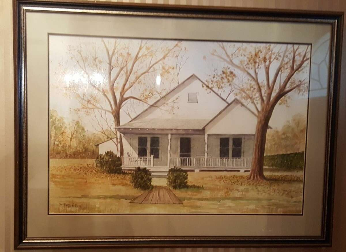 Mary Lea Layton-Taylor has lived on the same property in Humble since birth. This is an image of the original house her father built with lumber purchased from the lumber company owned by the Bender family.