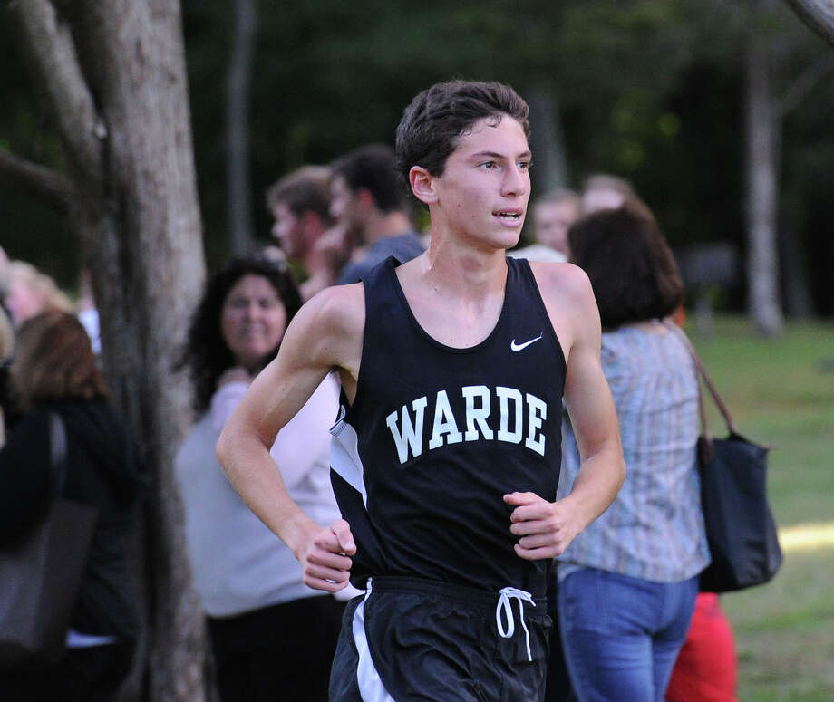 William Brisman of Fairfield Warde High School finished in first place during the boyshigh school cross country meet at Greenwich Point, Conn., Tuesday, Oct. 4, 2016. Photo: Bob Luckey Jr. / Hearst Connecticut Media / Greenwich Time
