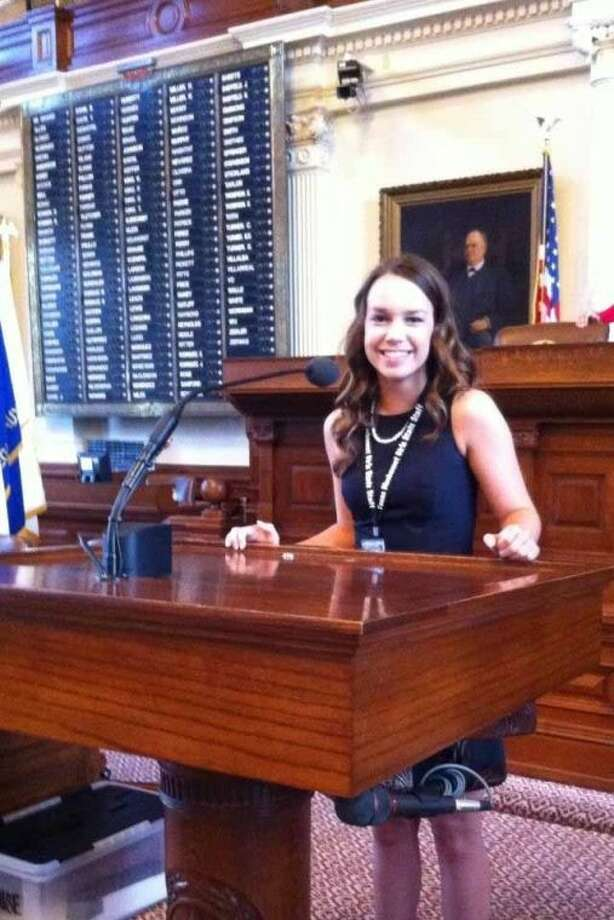 Providence Classical School graduate Caitlin Post was chosen to be a volunteer staffer at this year's Texas Girls State, held from June 15-21 at Texas Lutheran University in Seguin. Photo: Submitted