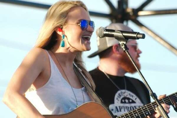 Country music performer Bri Bagwell sings at the Texas Music Fest in Friendswood Saturday.