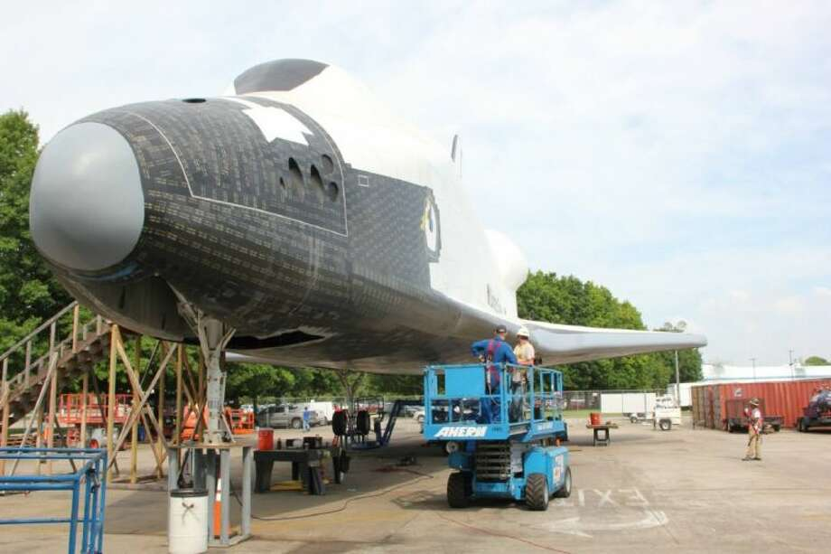The Independence shuttle replica is nearing completion. Photo: Facebook
