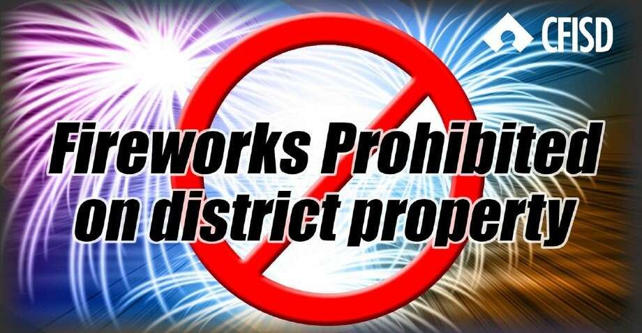 Texas law prohibits the discharge of fireworks on school district property.