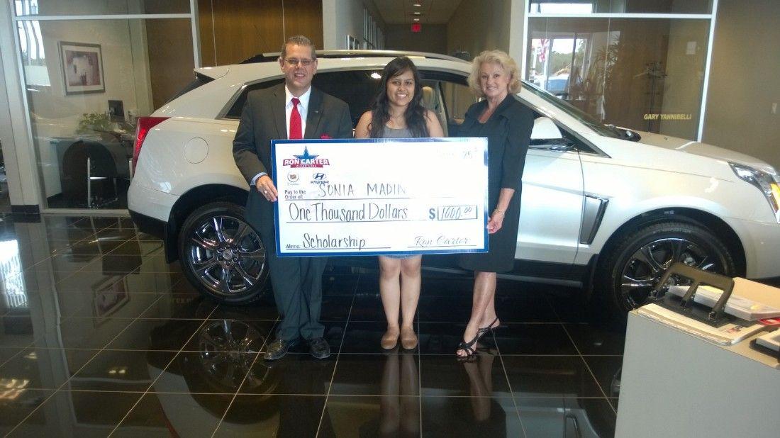 Ron Carter Hyundai >> Latest recipient of Ron Carter Cadillac Hyundai $1,000 ...