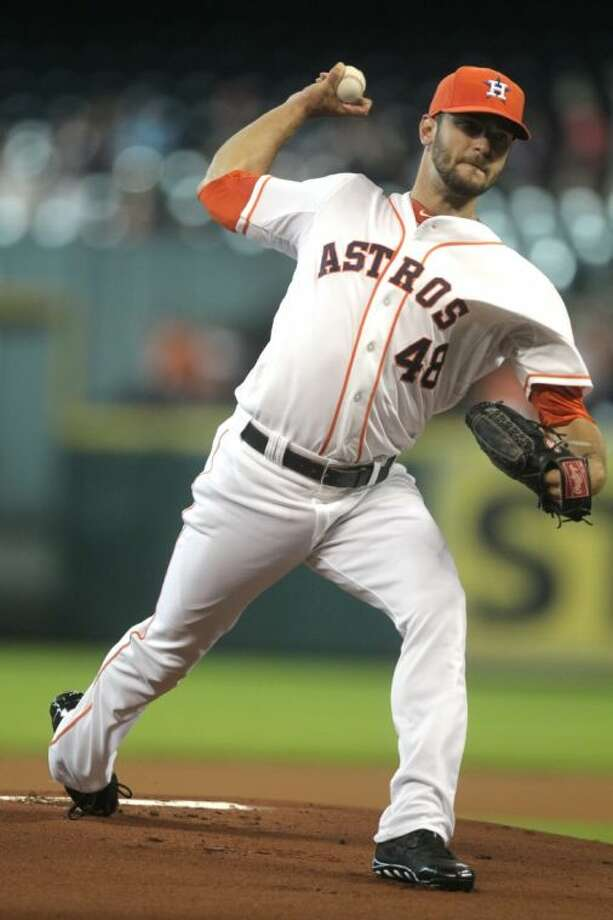 Houston Astros pitcher Jarred Cosart is 9-7 with a 4.41 ERA in 20 starts this season.