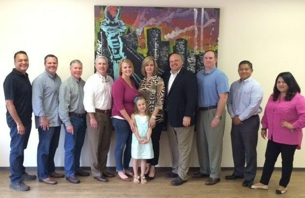 Pictured, from left, are Pete Serrano, Damon Sachs, John Sachs, Johnny Sullivan, Allison Slack, Peyton Nightingale, Shari Nightingale with Lindsay's Light Fund, Roy Wooten with Shield Bearer, Scott Griffin, Dennis Ulanday, and Nancy Correa.