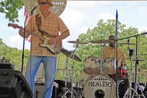Luther and the Healers were the featured entertainment at the July 4th Celebration at Friendswood's Stevenson Park.