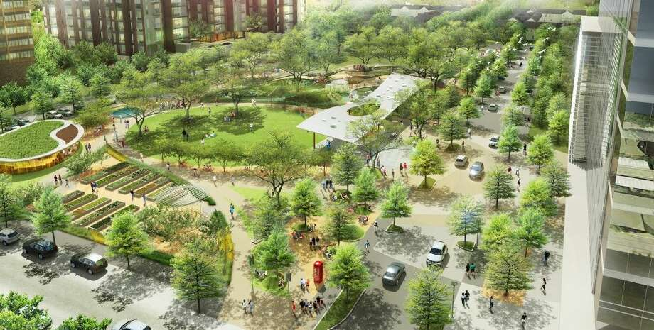 An artist rendering of the newly renovated Levy Park. Construction will being later this month pending permitting and cooperative weather.