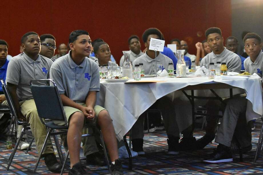Pro-Vision students attend A Call to Men. Photo:  Leroy Harden