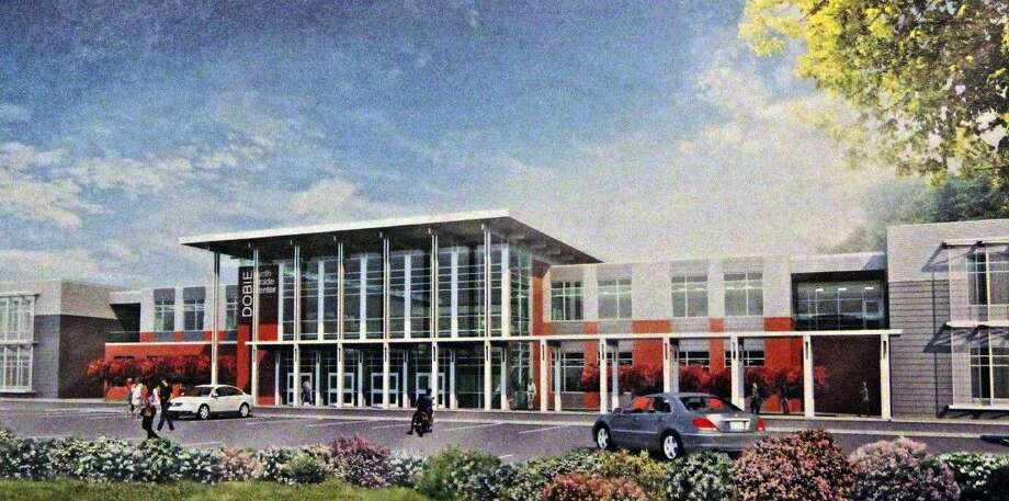 Architect's rendering of the proposed Dobie Ninth Grade Center Photo: File Photo