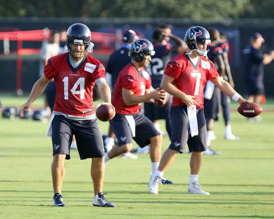 Coach Bill O'Brien said Ryan Fitzpatrick (14) will start at quarterback for the Houston Texans in their preseason opener against the Arizona Cardinals on Saturday in Phoenix.