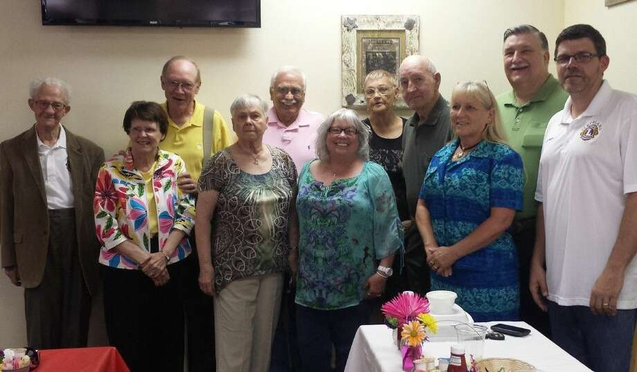 Members of the Cleveland Lions Club, including John Wuensche, Glinda Plumlee, Jim Plumlee, Doris Butler, Earl Wilmoth, Carol Wilmoth, Estelle Trevathan, Ken Butler, Terrie Manners, Mike Penry and Thomas Higgins, met on July 7 for the annual Officer Installation Dinner. Photo: Stephanie Buckner