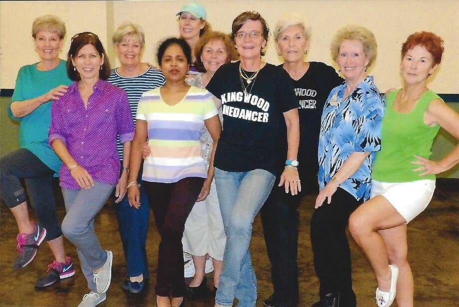 Accomplished linedancers who stay after regular class to succeed in the more intricate moves, are, from left, Patti Buholm, Donna Brown, Joy King, Nelum Guneratne, Carin Buholm, Nanette Wroe, Petra Ringeisen, Martha Mierendorf, Diane Mayes and Cheryll Gibson.