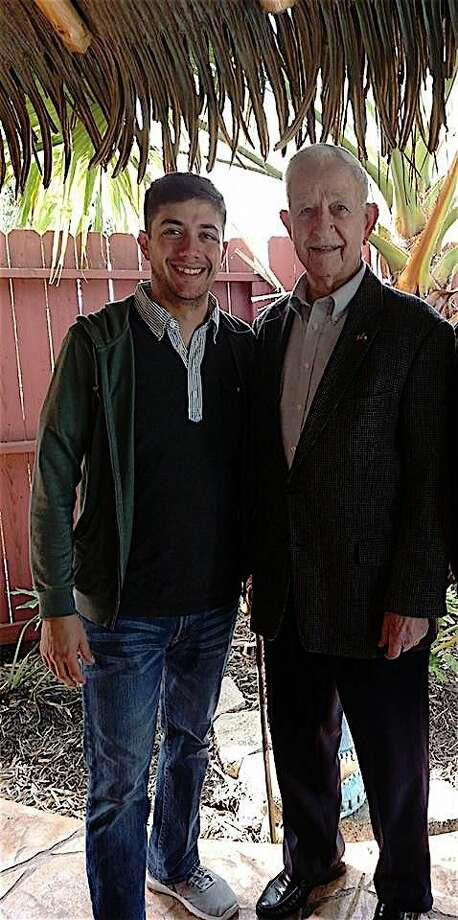Taylor Cooper with Pearland Mayor Tom Reid. Photo courtesy of C.R. Cooper.
