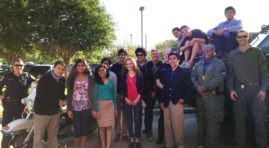 Sugar Land's MYAC members visit the police department. Photo: Photo Courtesy City Of Sugar Land