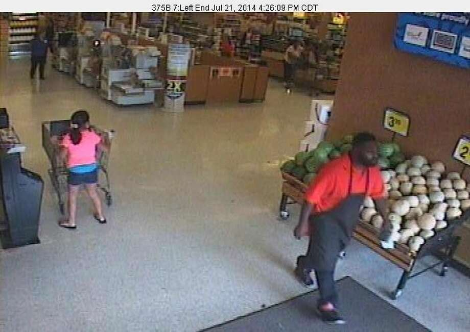 An image from surveillance footage of the suspect wanted for passing counterfeit bills at a Sugar Land Krogers on Monday, July 21. Photo: Image Courtesy Fort Bend County Crime Stoppers