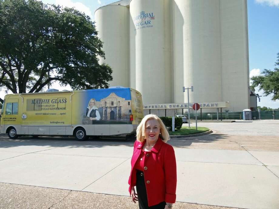 Kathie Glass, the Libertarian Party candidate for Texas governor, in Sugar Land on Thursday, Aug. 7, during the Fort Bend leg of campaign trail. Photo: Submitted Photo