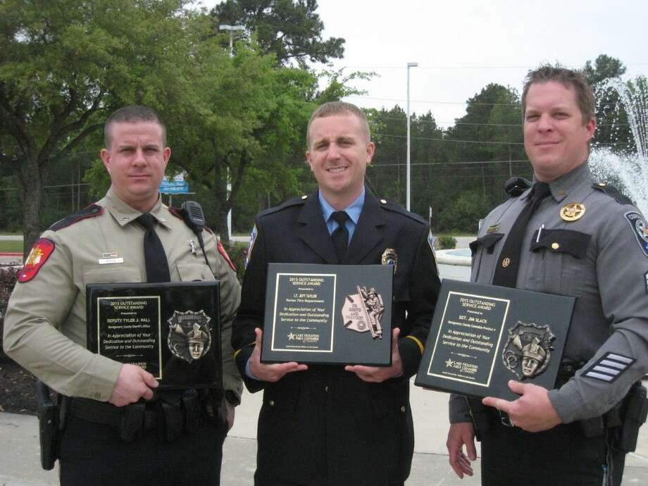 East Montgomery County peace officers and firefighters were recognized at the annual Lake Houston Area Chamber of Commerce's Hometown Heroes Peace Officers and Firefighters of the Year luncheon Tuesday, March 29, 2016.