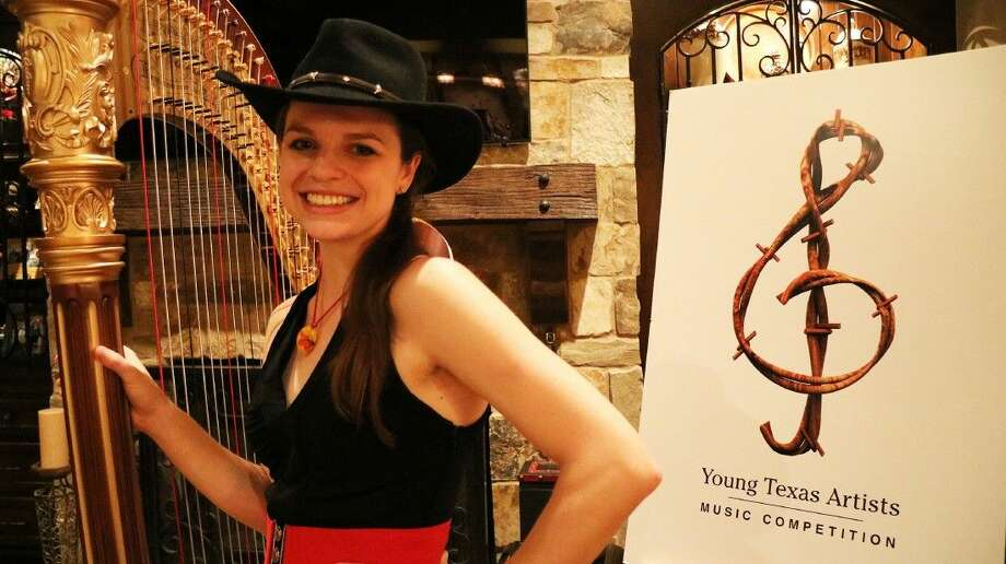 """Grace Browning, principal harpist of The Dallas Opera, won the Gold Medal in the 2015 Young Texas Artists Music Competition with her performance of """"Scintillation"""" by Carlos Salzedo. The three-day competition culminates with the Finalists' Concert and the Bach, Beethoven & Barbecue Gala on Saturday, March 12, at the historic Crighton Theatre in downtown Conroe. Photo: Submitted"""