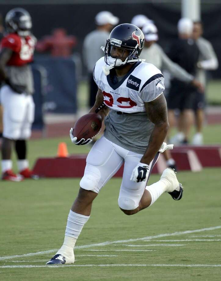 Houston Texans running back Arian Foster during practice Wednesday in Houston.