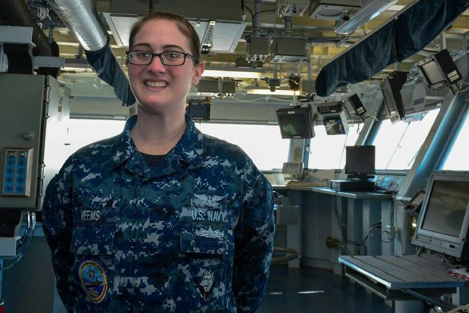 Petty Officer 2nd Class Robyn Graham-Weems is an aviation support equipment technician aboard the Ford-class aircraft carrier operating out of Norfolk, Virginia.