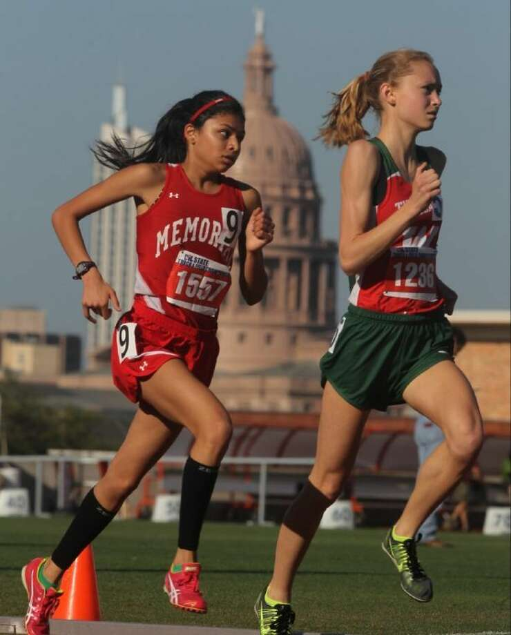 Memorial's Khayla Patel competes in the Class 5A girls 3,200 meter run during the 2014 UIL State Track and Field Championships at Mike A. Myers Stadium in Austin. Patel returns to Myers Stadium for the 2016 Texas Relays. Photo: Jason Fochtman
