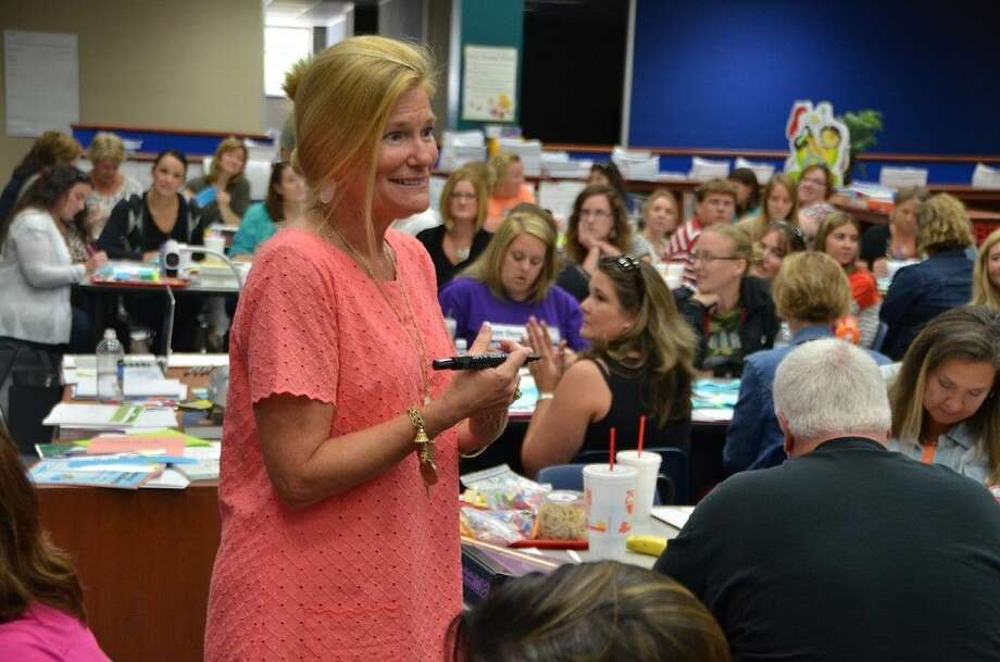 Math consultant Garland Linkenhoger leads the Summer Math Institute for 79 teachers from six CFISD elementary schools at Black Elementary School last week.