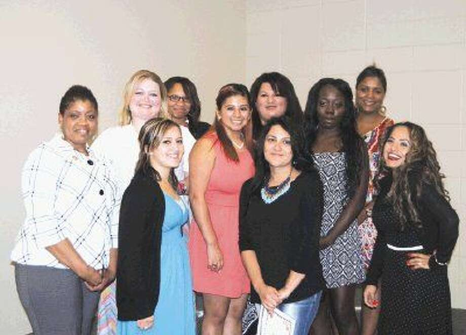 The August 2014 graduates of the Project Leeway program at Lee College celebrated their achievement at a special ceremony held Thursday, Aug. 7, in the Student Center on campus. Pictured in the front row (left to right): Jennifer Dixon, Anjelica Gomez, Wendy Alvarez and Norma Trujillo. Middle row (left to right): Marie Cook, Elizabeth Ramirez and Malisha Lamont. Back row (left to right): Kiara Francis, Anel Morales and Angela JohnLouis.