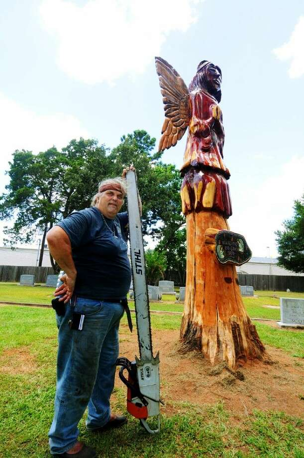Artist Teri McCaulley's angel was recently unveiled at the Magnolia Cemetery. Photo: Photographer