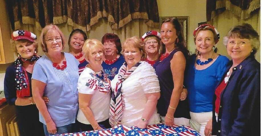 The recent Bunko group, Chaired by President Debbie Campbell, included, left to right: Kay Caffey, Kate McPike, Cheryl Daciek, Faye Beeland, Janice Maurer, Lucy Richardson, Debbie Smith, Karen Lombardo and Lee Ann Sprick.