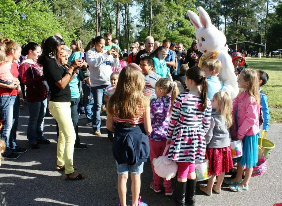 The Easter Bunny arrives at Bunny Blast on Saturday, March 26, at Old City Park in Cleveland. The annual Easter egg hunt is organized by the Unity Committee of Cleveland and is sponsored by local businesses and individuals. This year's gold sponsors were Anderson Ford, Martin Dodge and Martin Autopark. Photo: Vanesa Brashier