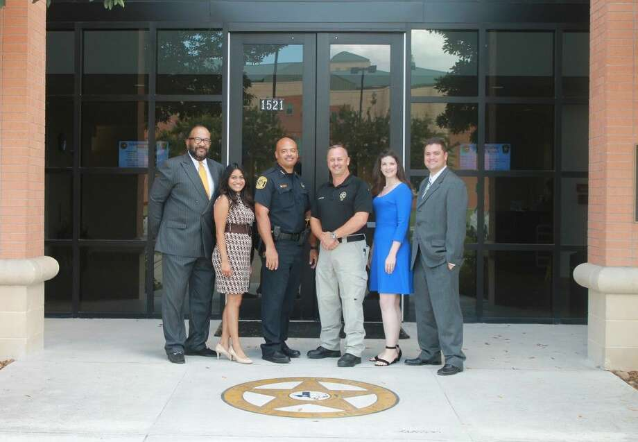 Pictured, from left, at a recent Crisis Intervention Training (CIT) are Fred Mattingly, Hope for Three Development Director, Samantha Katchy, CIT Presenter and Hope for Three Family Assistance Coordinator, Chief Doug Brinkley, Sugar Land Police Department, Sergeant Scott Soland, CIT Presenter and Fort Bend County Sheriff's Department, Emily Stuart, Hope for Three Administrative Assistance and Matt Jackson, Hope for Three Executive Director.
