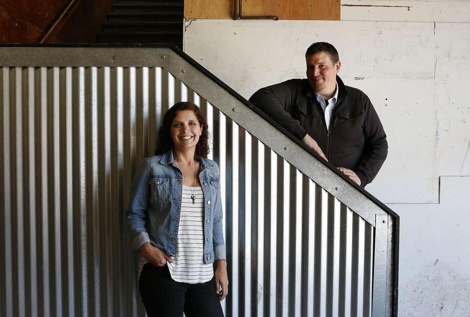 Adobe 1240 lead Lisa Temple and principal resident artist Erik Natzke in the Minnesota Street Project studio. Photo: Leah Millis, The Chronicle