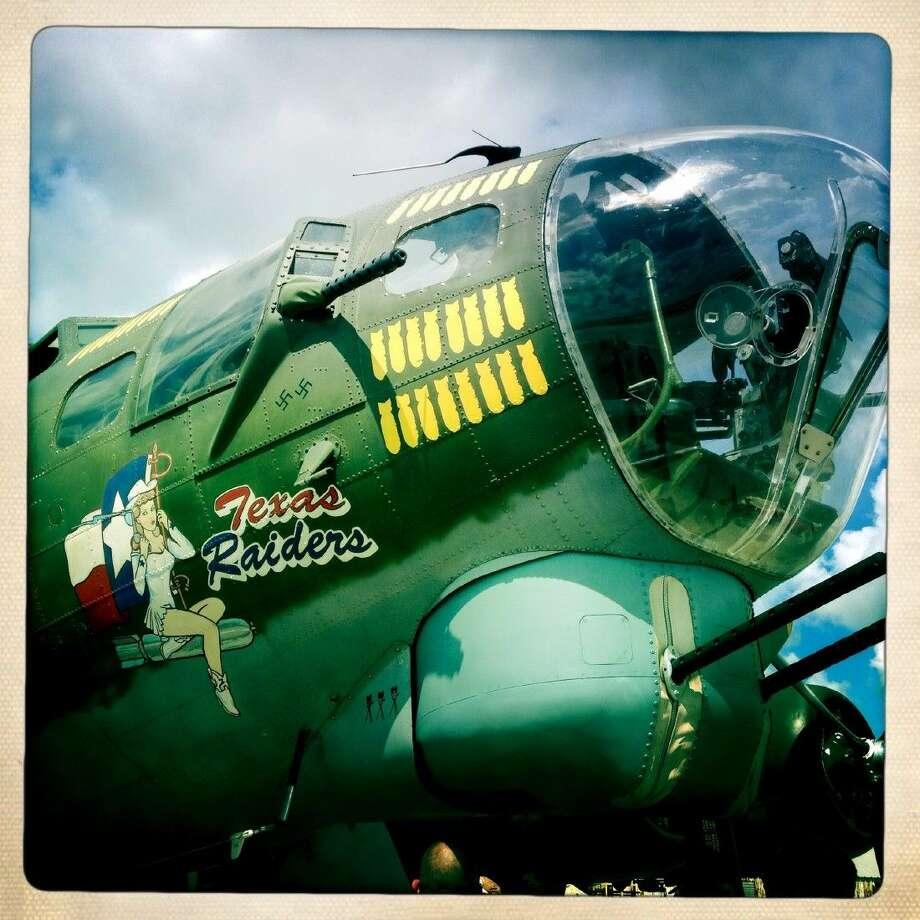 The Texas Raiders Flying Fortress. Photo: Marla Cloud Molony