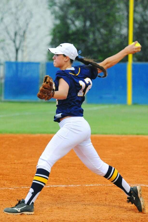 Cypress Ranch junior pitcher Ashley Koncir demonstrated an impressive arm in Tuesday's 6-1 road win over district opponent Cypress Creek. Koncir struck out 13 batters, walking two on her way to a no-hitter. Photo: Tony Gaines