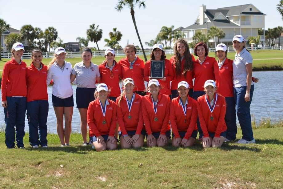 The Clear Lake varsity girls' golf team won its 17th straight District 24-6A title. Team members include Kari Bush, Macy Williams, Jocelyn See, Elise Tanzberger, Stephanie Banach, Maddy Runnells, Samantha Bruno, Sara Zamora, Gabriella Howerton, Courtney Huynh, Rilee Mullins, Jessica Bruno and Juliana Hickman. Head coach is Karolyn Criado. Photo: Submittted Photo