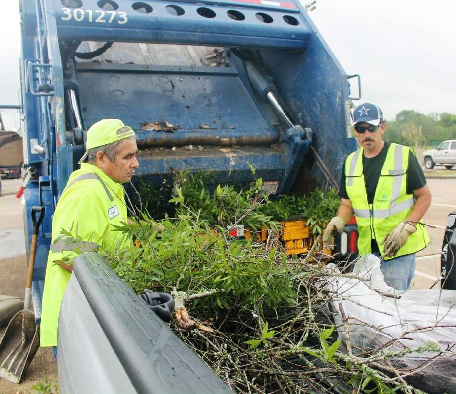 Green waste is allowed to be brought to the Spring Sparkle. Hazardous waste, such as tires, paint, batteries, and oil, is not allowed.