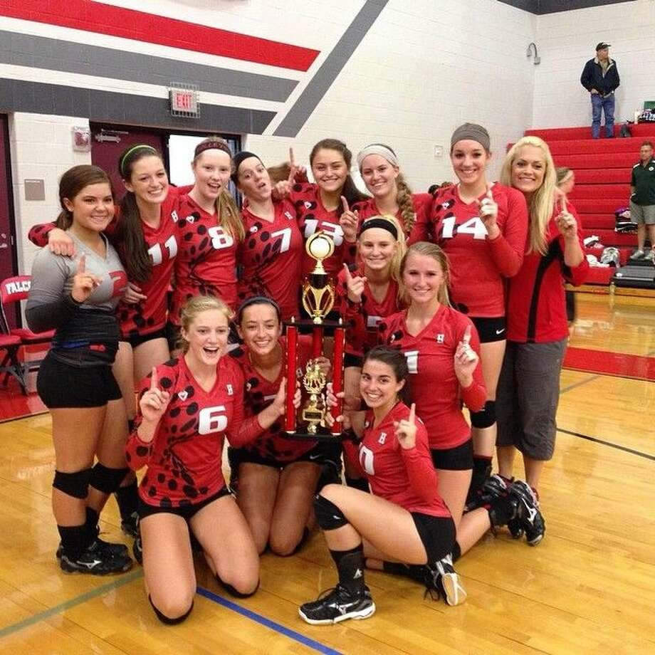 Huffman claimed the tournament championship at its own Huffman Lady Falcon volleyball tournament on Saturday.