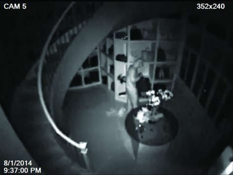 Montgomery County authorities released the surveillance video after the burglary of a 3,000-square-foot closet at the home of Theresa Roemer, a resident of Carlton Woods located in The Woodlands.