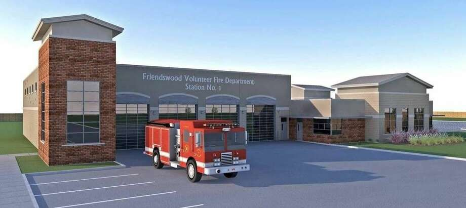 This is an architect's rendering of the new Kenneth M. Camp Fire Station. Ground breaking for the facility is Saturday, April 2, at 2 p.m.