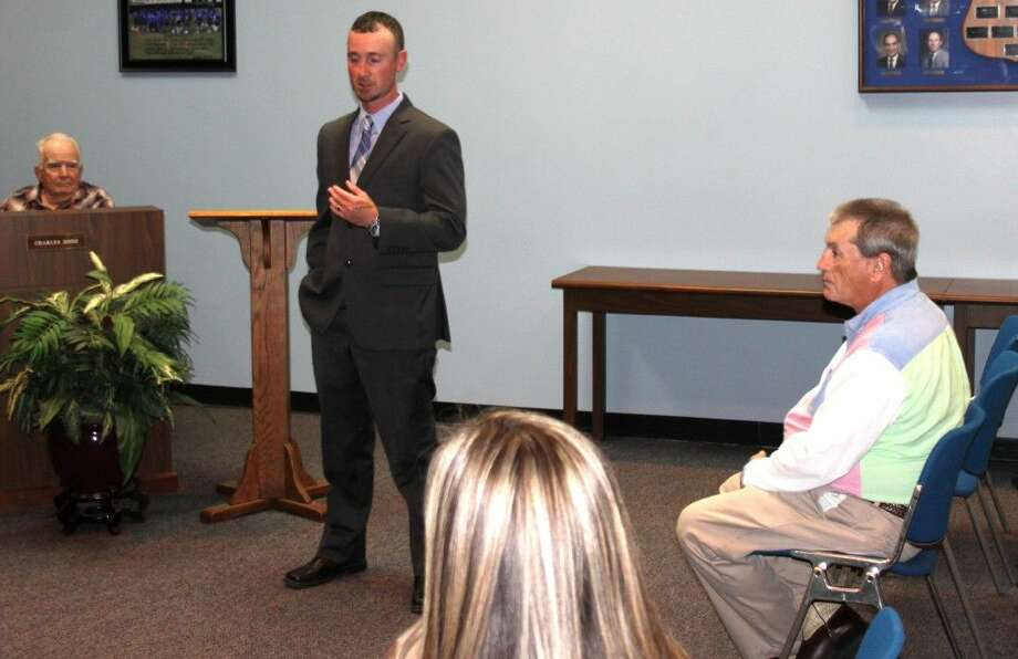 New Shepherd ISD Athletic Director Miles Robison expresses his appreciation for being hired onto the new position. Photo: Jacob McAdams