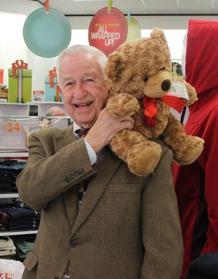 "Mayor Reid likes the ""Bears That Care"" bear."