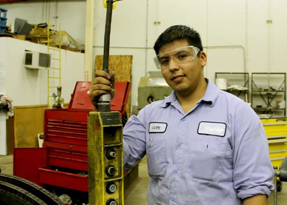 Lupe Camacho is one of three College of the Mainland students hired for an apprenticeship before completing the Mechanical Maintenance Technician Certificate Program. INEOS approached the college requesting student applicants and Camacho is learning technical principles in COM's classes while working full-time at the company. Photo: Courtesy College Of The Mainland