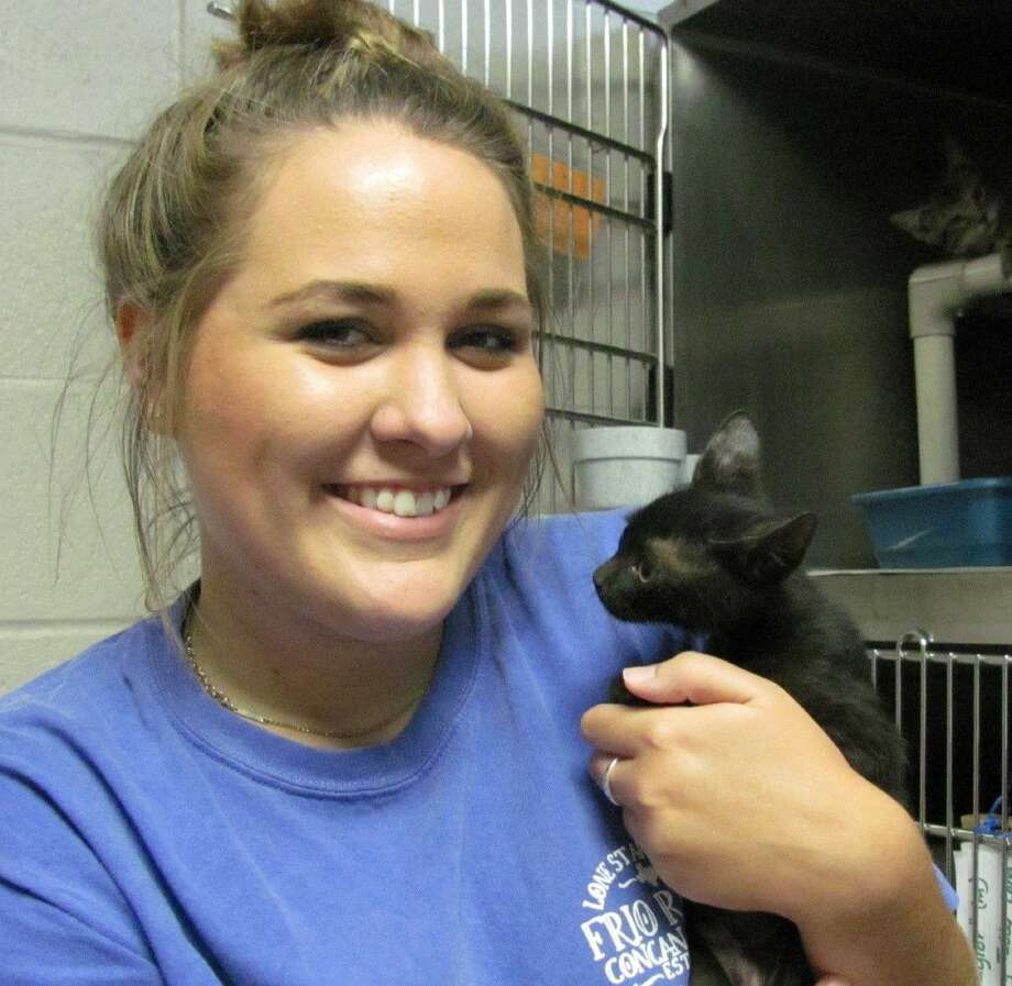 Meagan Dobernecker is one of the dedicated volunteers at the City of Friendswood Animal Control facility.